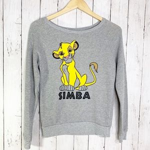 {Disney} Womens SOFT Simba Lion King Sweatshirt